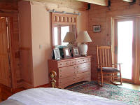 Master bedroom in Snowshoe home