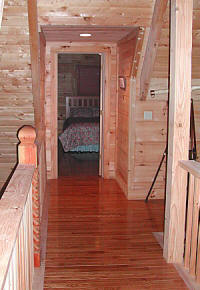 Upstairs bedrooms, each with private bath!